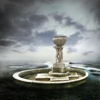 Premade BG Fountain by E-DinaPhotoArt