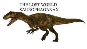 The Lost World Saurophaganax ZT2 by GorgonGorgosaurus