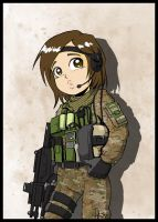 Military Girls: Chilean Air Force Commando by Carlos-the-G