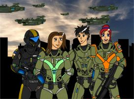 Futuristic soldiers by Luckymarine577