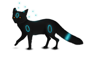 Shiny Umbreon Fox by Sabinzie
