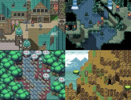 Fantasy Jrpg Tileset Work 3 by weremole