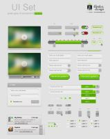 Green-Grey UI  elements by AndexDesign