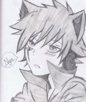Neko Younger Version Laxus by KingofBeastsGrimmjow