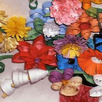 quilled flowers by Craftcove