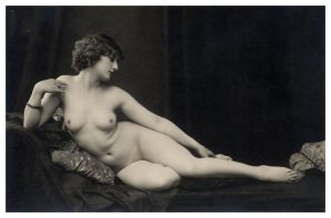 Vintage Lady Reclined Nude 9 by Bnspyrd