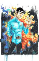 Tribute to Spock by colepetersonart