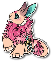Fleur Page Sticker - Commission No. 12 -2- (2013) by WhatTheFoxBecca