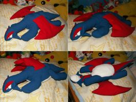 Lying Salamence Plush by Starfighter-Suicune
