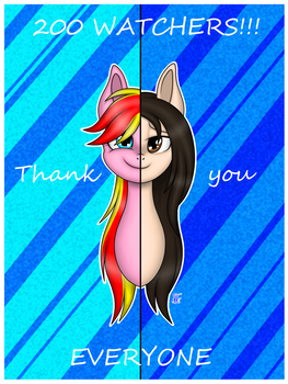 200 WATCHERS!!! Thank you! by Margo24