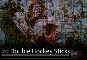 20 Double Hockey Sticks Art by CizreK