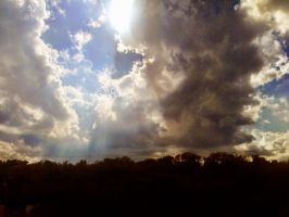 Sun Behind Clouds by TheGerm84