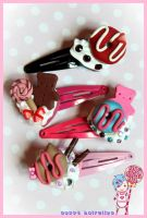 Sweetie Deco Hairclips by CandyStripedCafe