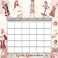 Girls Generation Horario by AnelEditons