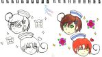 Chibi Sailor Lovi and Feli by DrawWithNessie