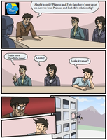 Phineas and Ferb Boardroom meeting. by animegx43