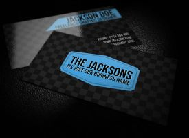 Premium Check Business Card by graphcoder