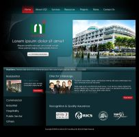 Unitech QS website mockup by projectDC