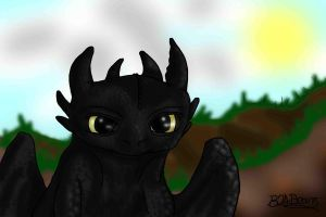 Toothless by b24beanz