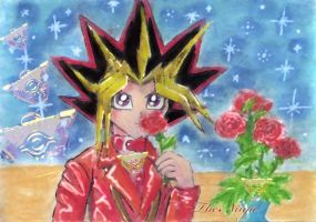 Red Roses love Atem and Yami by ninja-starz2