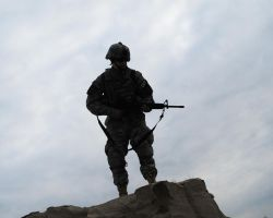 soldier at the cliff by Ryan20