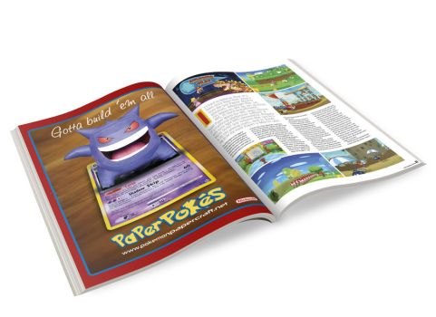 Paperpokes Nintendo Magazine Ad by Skele-kitty