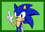 How I draw Sonic by mangakid37201