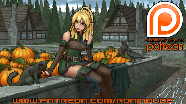 Patreon Teaser! October 2016 - Pic 2 by RoninDude