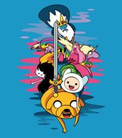ADVENTURE TIME T-shirt!! by supertoki