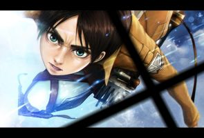 Shingeki No Kyojin (Attack on titan) - Eren Jaeger by LUN2004