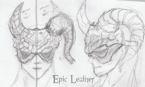 Greater Demon Mask Concepts by Epic-Leather
