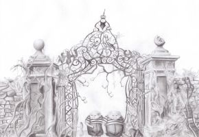 at the gate to wonderland by foreverwonderstruck