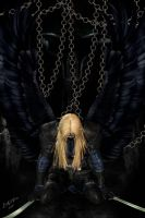 Dark angel in chains by LadyNightVamp