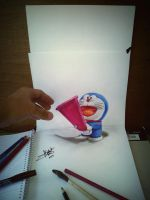 doraemon 3d drawing by Arthur T. Cortez by ATCdrawings
