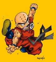 Krillin Colored by Kenji-Seay