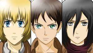 Shingeki no Kyojin's Big 3 :) by michael0730