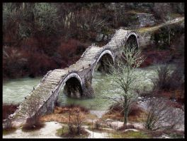 Kalogerikos old bridge by morgenland