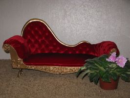 Victorian sofa for BJD in scale by zefforian