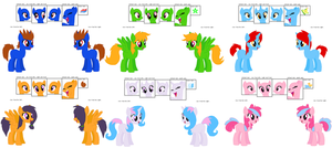 Mane 6  ref by Zoiby