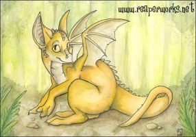 Baby Forest Dragon by reaperfox