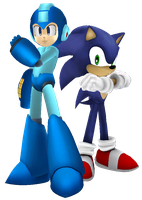 Megaman and Sonic by war9000