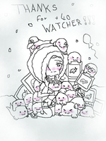 Thanks for +40 WATCHER !!! by XHanna-chanX