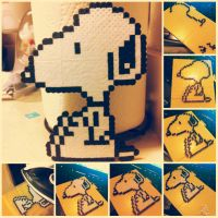 Snoopy: Perler Beads by sweetkristina07