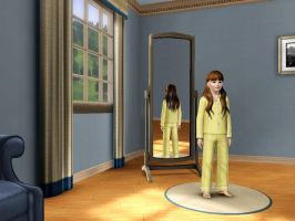 Sims 3 - Denise Nickerson in nighttime outfit 1 by Magic-Kristina-KW