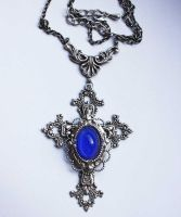 Sapphire blue crucifiction by Pinkabsinthe