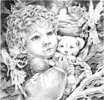 The Stolen Child - pencil by Shalladdrin