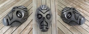 Dragon Priest Mask - Cold Cast Aluminium by Thomasotom