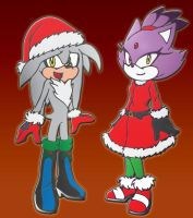 Merry Christmas: Blaze and Silver by zobelogna
