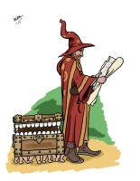 Rincewind and the Luggage by BlackSnowComics