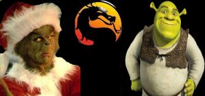 Mortal Kombat The Grinch vs. Shrek by SteveIrwinFan96
